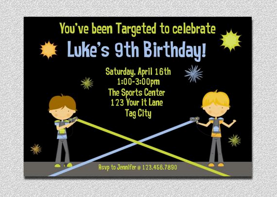 Laser Tag Invitation Wording Lovely Laser Tag Birthday Invitation Laser Tag by thetrendybutterfly