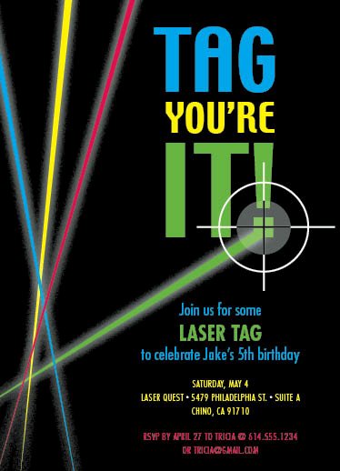 Laser Tag Invitation Wording Luxury Party Invitations Laser Tag at Minted