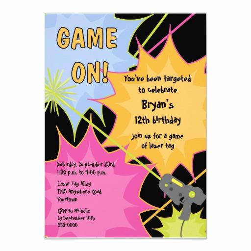 Laser Tag Invitation Wording New Laser Tag Birthday Invitation