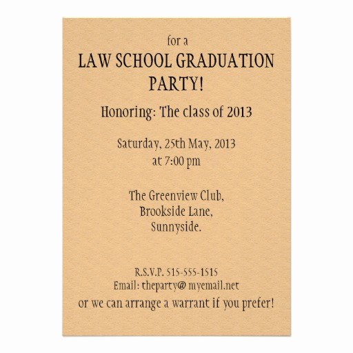 Law School Graduation Invitation Wording Beautiful Law School Graduation Party Invitation Summons