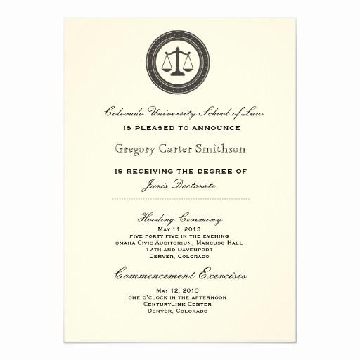 Law School Graduation Invitation Wording Best Of Personalized Law School Graduation Announcements