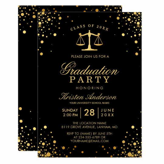 Law School Graduation Invitation Wording Fresh Class Of 2019 Law School Graduate Graduation Party