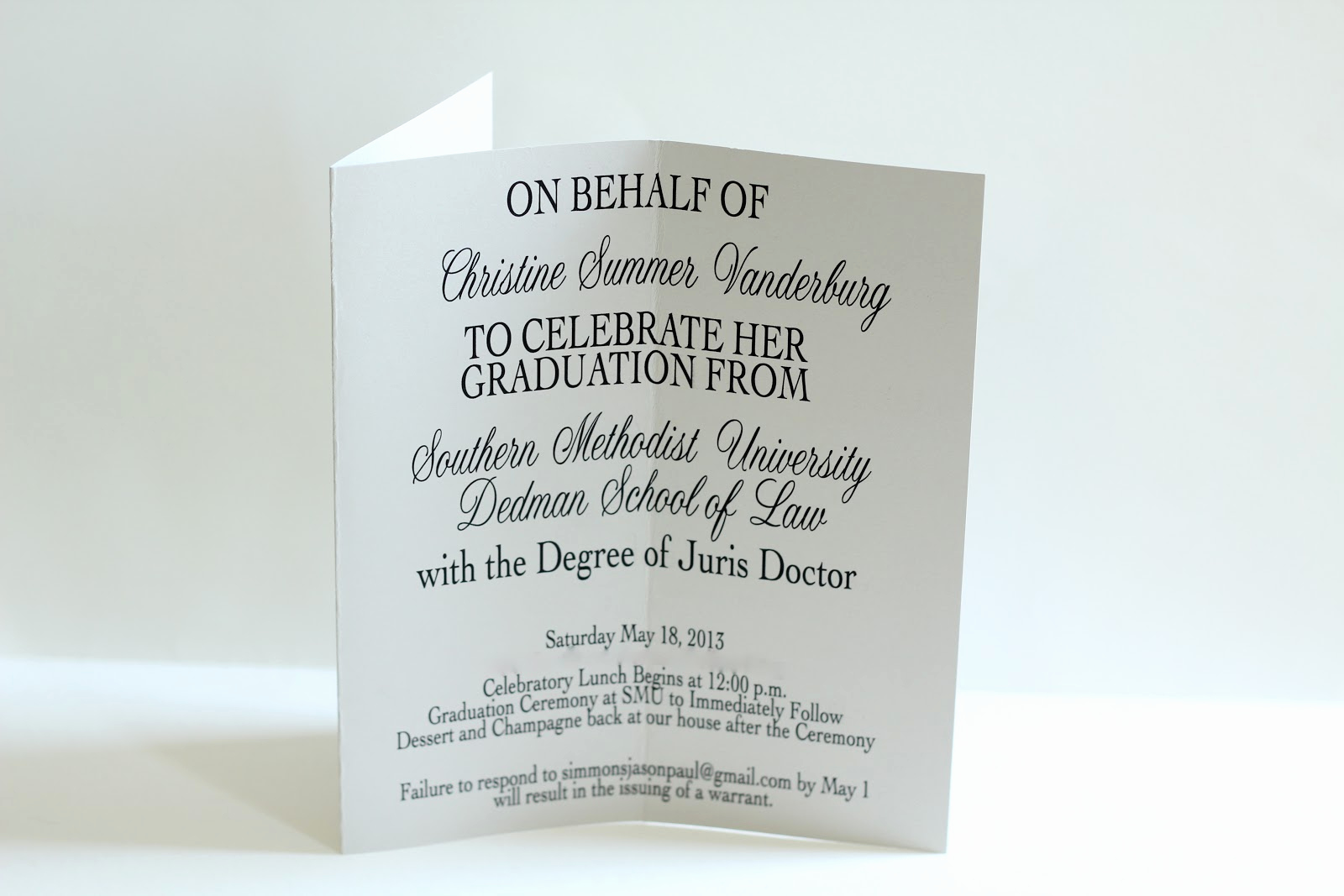 Law School Graduation Invitation Wording Lovely Create Cook Survive Law School Make something Law