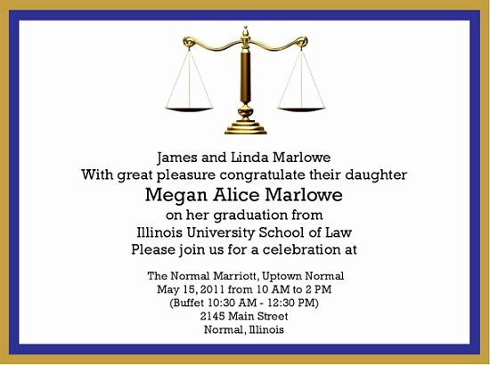 Law School Graduation Invitation Wording Luxury Law School Graduation Invitation Easyday