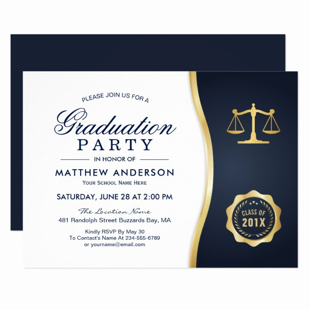 Law School Graduation Invitation Wording Unique 2019 Graduation Party Invitations for Law School Graduates