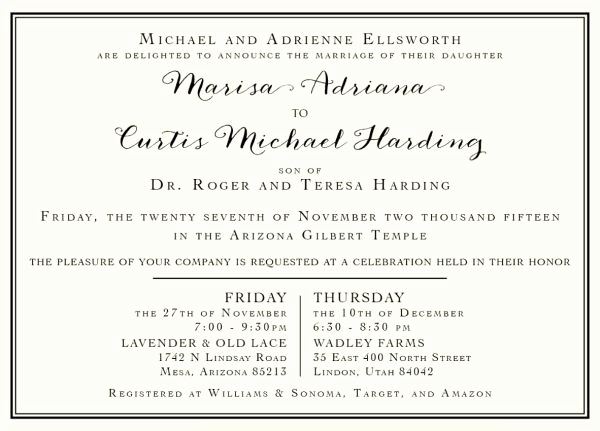 Lds Sealing Invitation Wording Best Of 136 Best Images About Lds Wedding Invitations On Pinterest