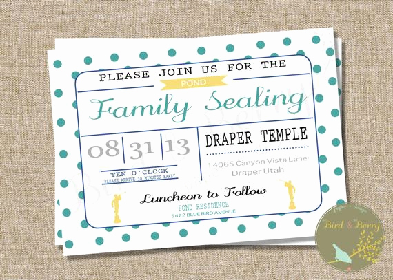 Lds Sealing Invitation Wording Lovely Lds Family Temple Sealing Invitation Adoption Sealing