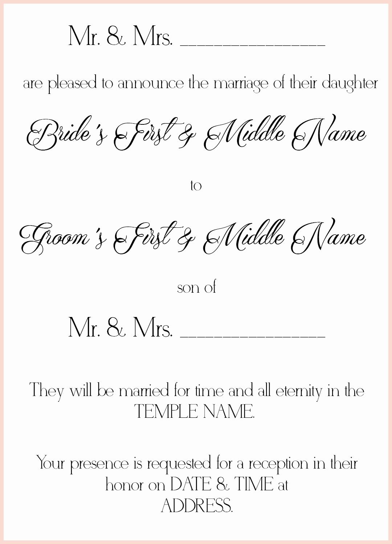 Lds Wedding Invitation Wording Best Of 8 Lds Wedding Invitation Wording Samples