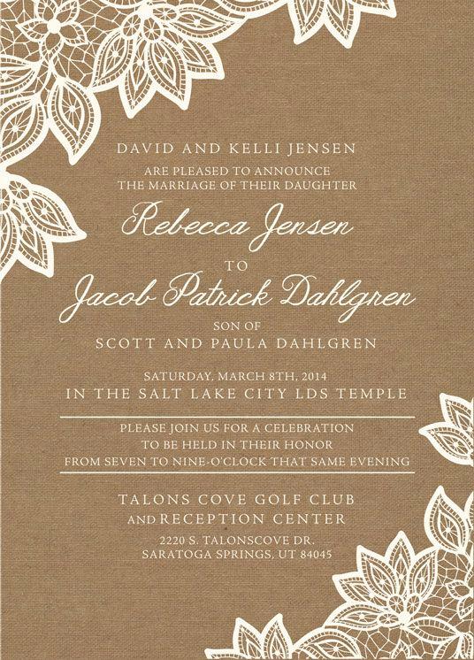 Lds Wedding Invitation Wording Luxury 136 Best Lds Wedding Invitations Images On Pinterest
