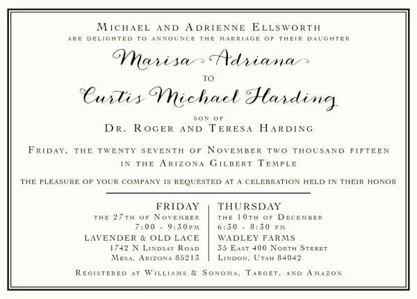 Lds Wedding Invitation Wording Unique 136 Best Lds Wedding Invitations Images On Pinterest