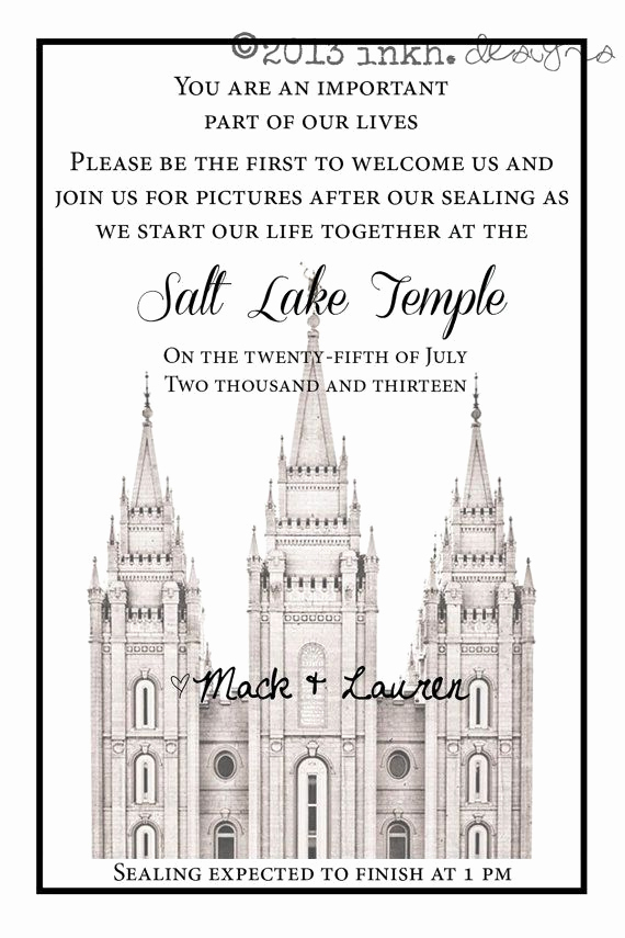 Lds Wedding Invitation Wording Unique 17 Best Images About Temple Invitations On Pinterest