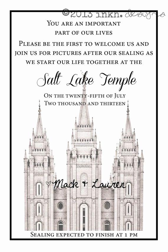 Lds Wedding Invitation Wording Unique 17 Best Images About Temple Invitations On Pinterest
