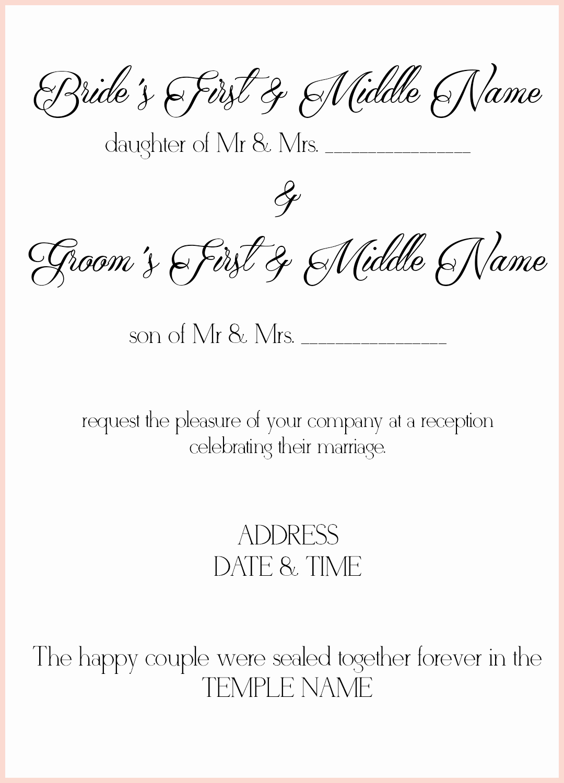 8 lds wedding invitation wording samples