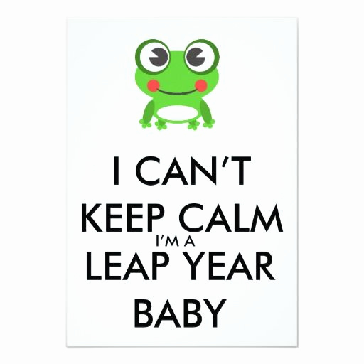 Leap Year Birthday Invitation Awesome Leap Year Leap Day Baby Birthday Invitation