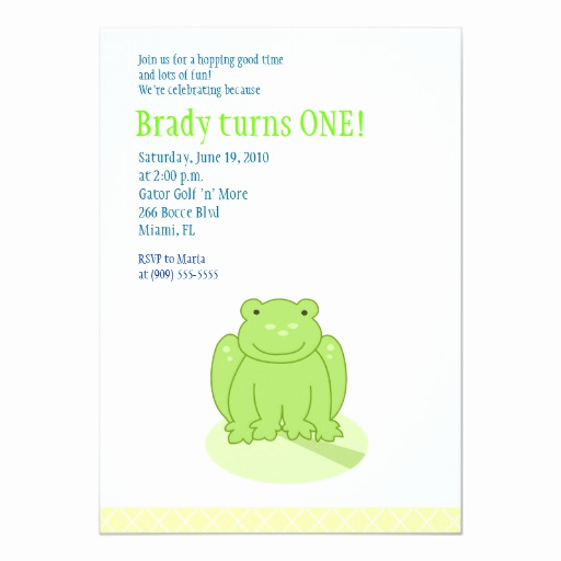 Leap Year Birthday Invitation Elegant Little Green Leap Frog 5x7 Birthday Invitation 13 Cm X 18
