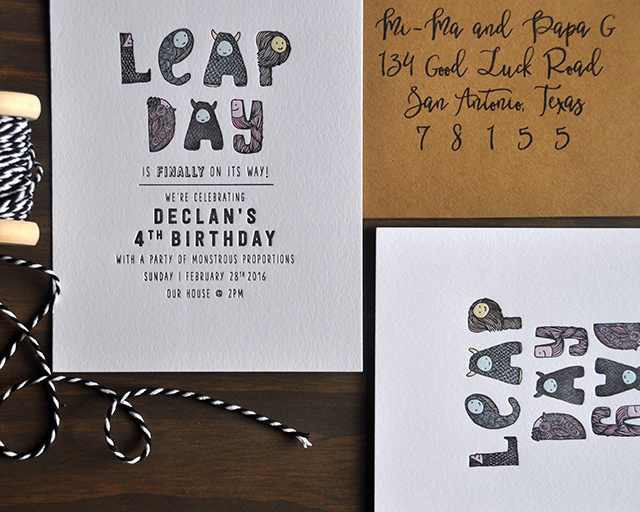 Leap Year Birthday Invitation Lovely Leap Day Birthday Party Invitations