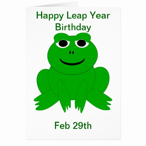 Leap Year Birthday Invitation Luxury Leap Year Birthday Card