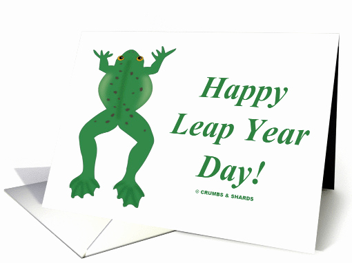 Leap Year Birthday Invitation New Happy Leap Year Day Green Jumping Frog Card