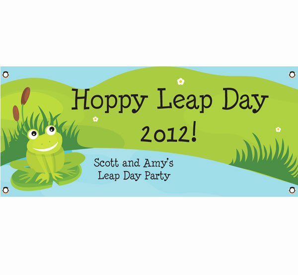 Leap Year Birthday Invitation Unique Leap Day Party theme Banner