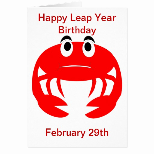 Leap Year Birthday Invitation Unique Leap Year Birthday Card