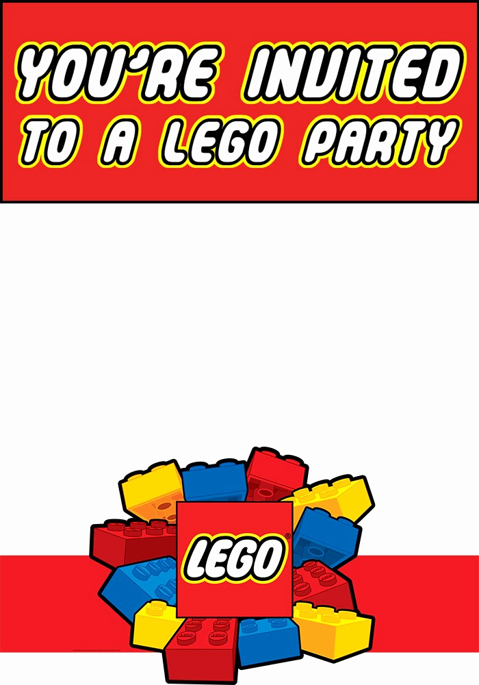 Lego Birthday Invitation Template Awesome Free Printable Lego Invitation Templates