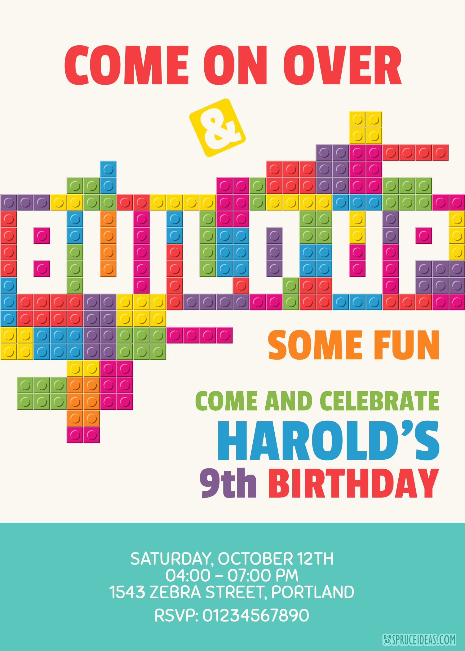 Lego Birthday Invitation Template Best Of Editable Lego Birthday Invitation Template Printable Free