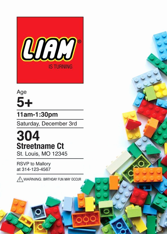 Lego Birthday Invitation Template Best Of Liam S Name In Lego Font Evie S 7th Birthday