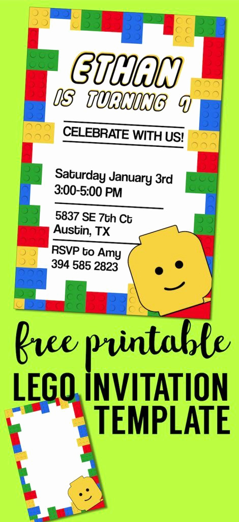 Lego Birthday Invitation Template Lovely 477 Best Free Printables From Paper Trail Design Images On