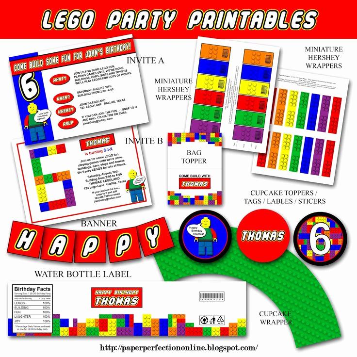 Lego Birthday Invitation Template New 25 Best Ideas About Lego Birthday Invitations On