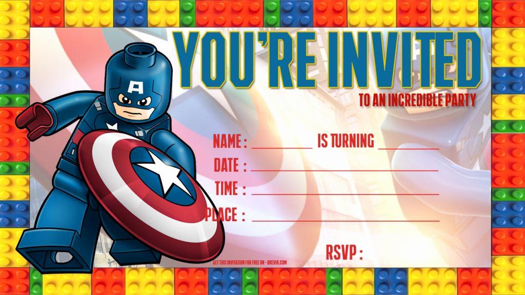Lego Birthday Invitation Template New Free Lego Birthday Invitations – Free Printable Birthday