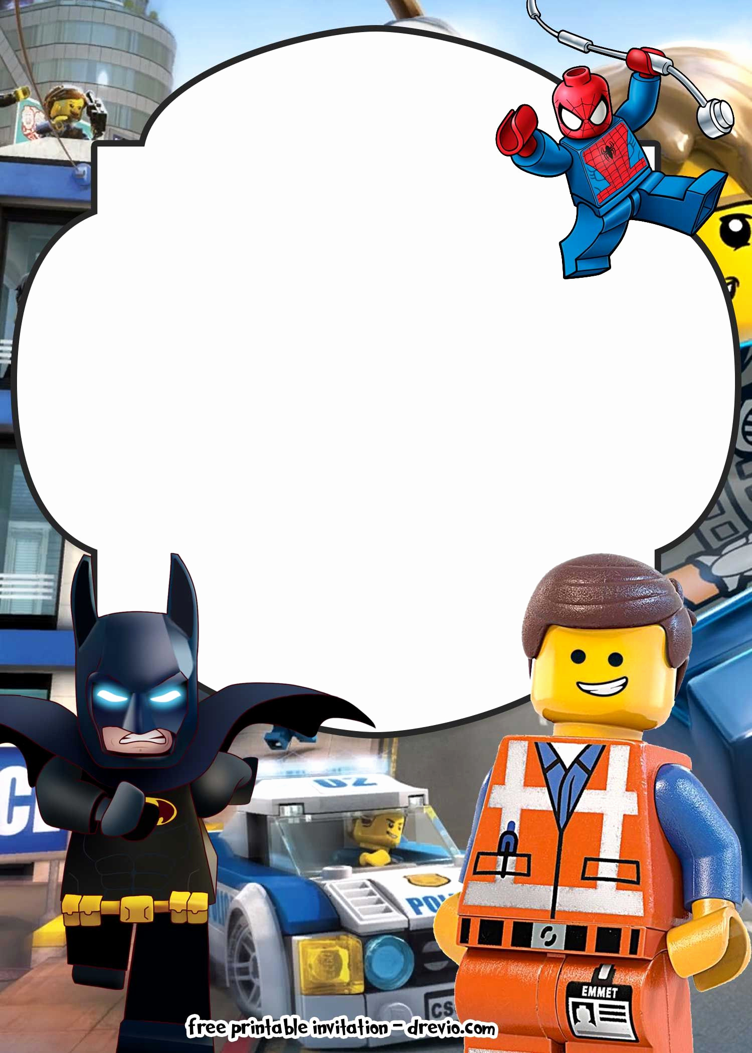 Lego Birthday Invitation Template New Free Lego Movie Invitations for