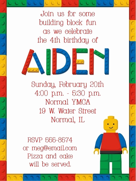 Lego Birthday Invitation Template New How to Throw A Lego Birthday Party – south Shore Mamas