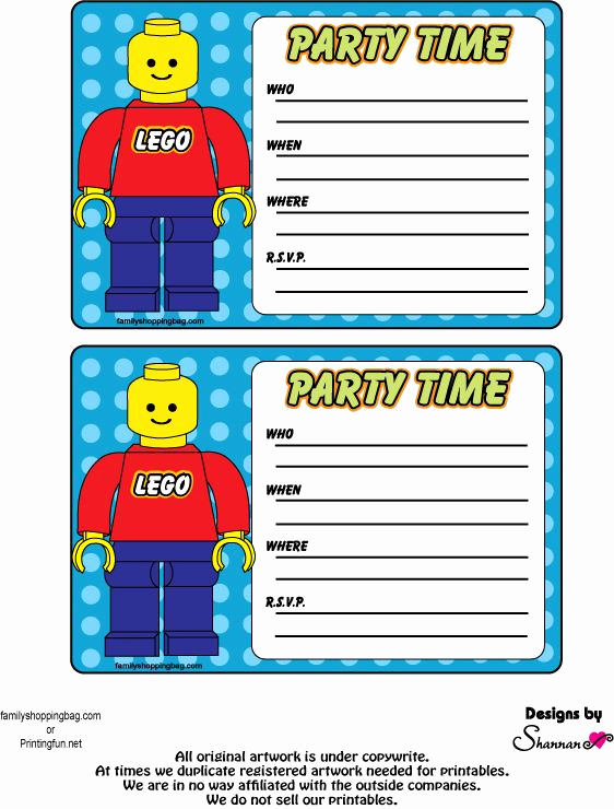 Lego Party Invitation Printable Beautiful Einladungskarten Lego Party Pinterest