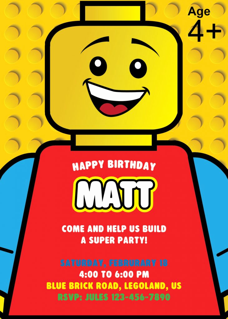 Lego Party Invitation Printable Beautiful Lego Party Planning Ideas & Supplies