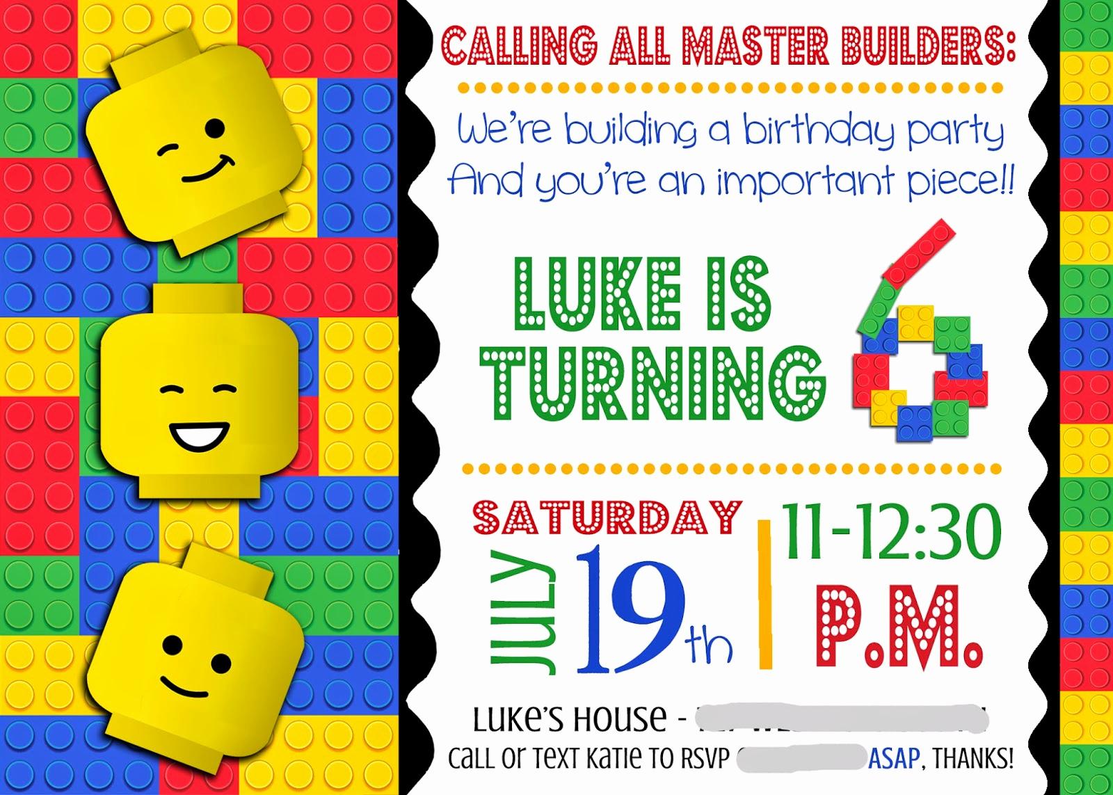 Lego Party Invitation Printable Beautiful Smile Like You Mean It Portfolio