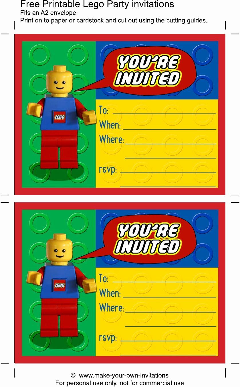 Lego Party Invitation Printable Elegant Printable Lego Birthday Invitations Scribd