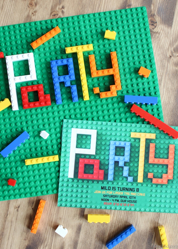 Lego Party Invitation Printable Fresh How to Make Lego Party Invitations Bren Did