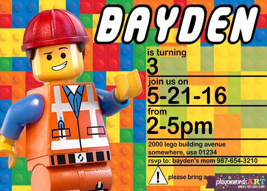 Lego Party Invitation Printable Fresh Lego Party Planning Ideas & Supplies