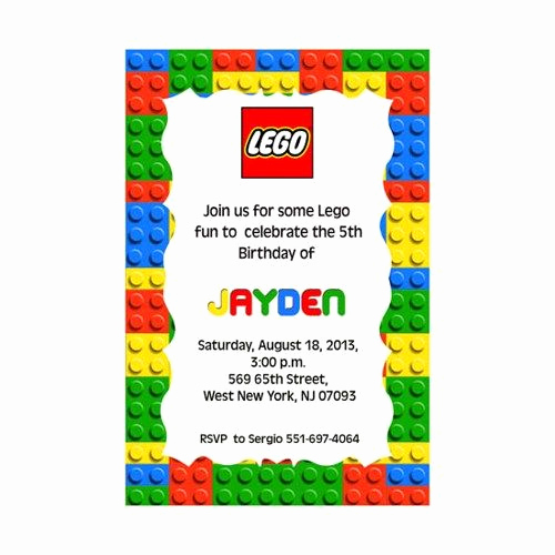 Lego Party Invitation Printable Inspirational Best 25 Lego Birthday Invitations Ideas On Pinterest