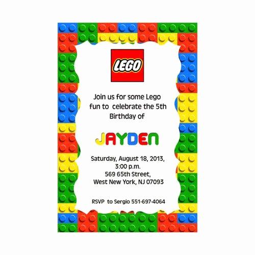 Lego Party Invitation Printable Inspirational Best 25 Lego Birthday Invitations Ideas On Pinterest
