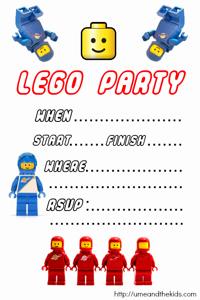 Lego Party Invitation Printable Lovely Free Printable Lego Birthday Party Invitations U Me and