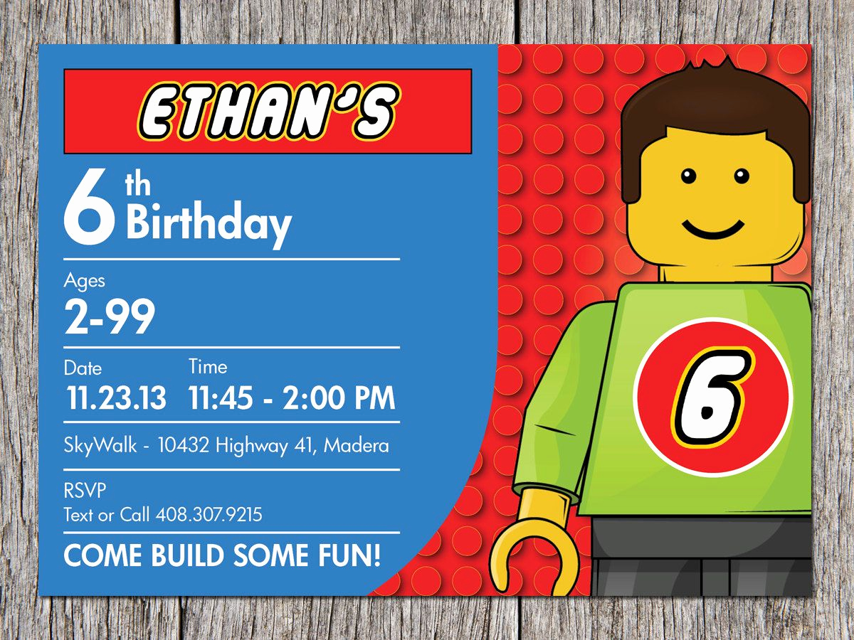 Lego Party Invitation Printable Luxury Free Printable Lego Birthday Party Ideas