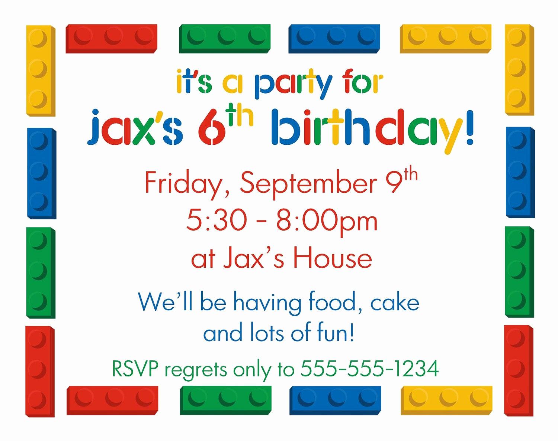 Lego Party Invitation Printable New Lego Diy Printable Birthday Party Invitations