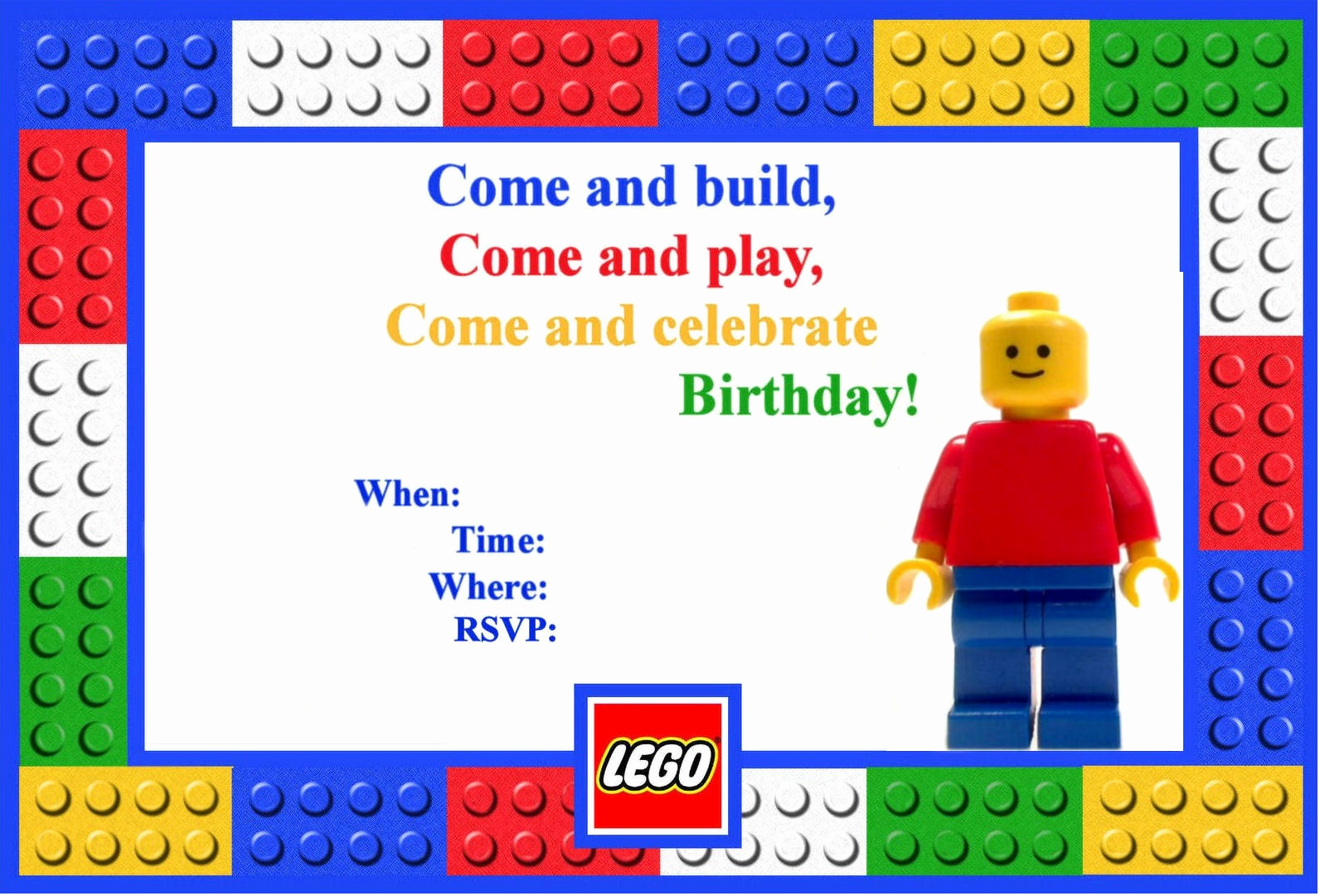 Lego Party Invitation Printable New Let S Panic Lego Birthday Party
