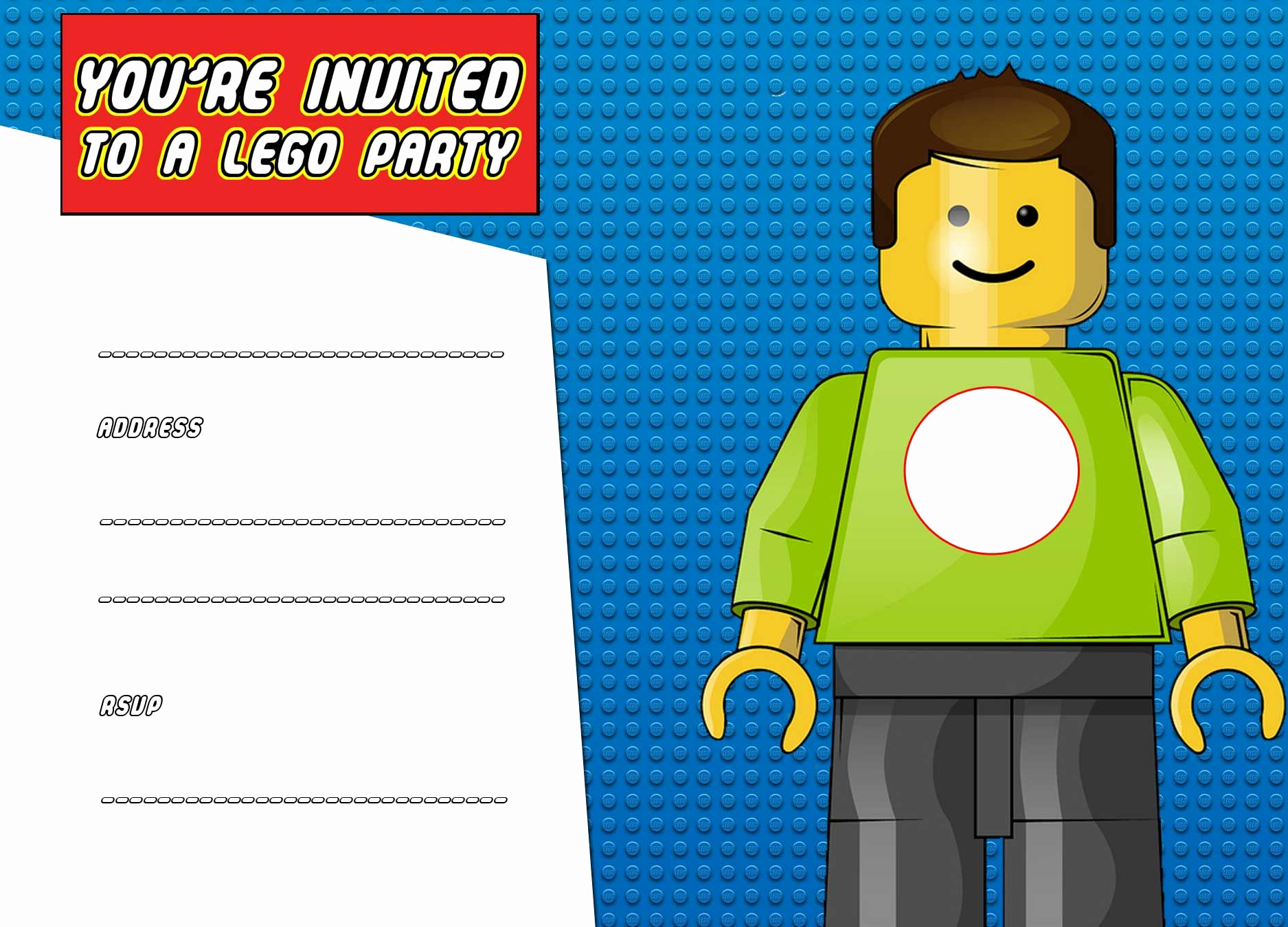Lego Party Invitation Template Awesome Download now Free Printable Lego Birthday Invitation