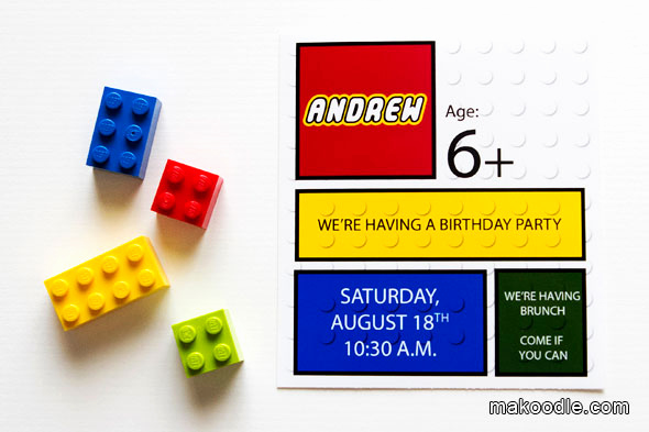 Lego Party Invitation Template Beautiful Lego Party Time