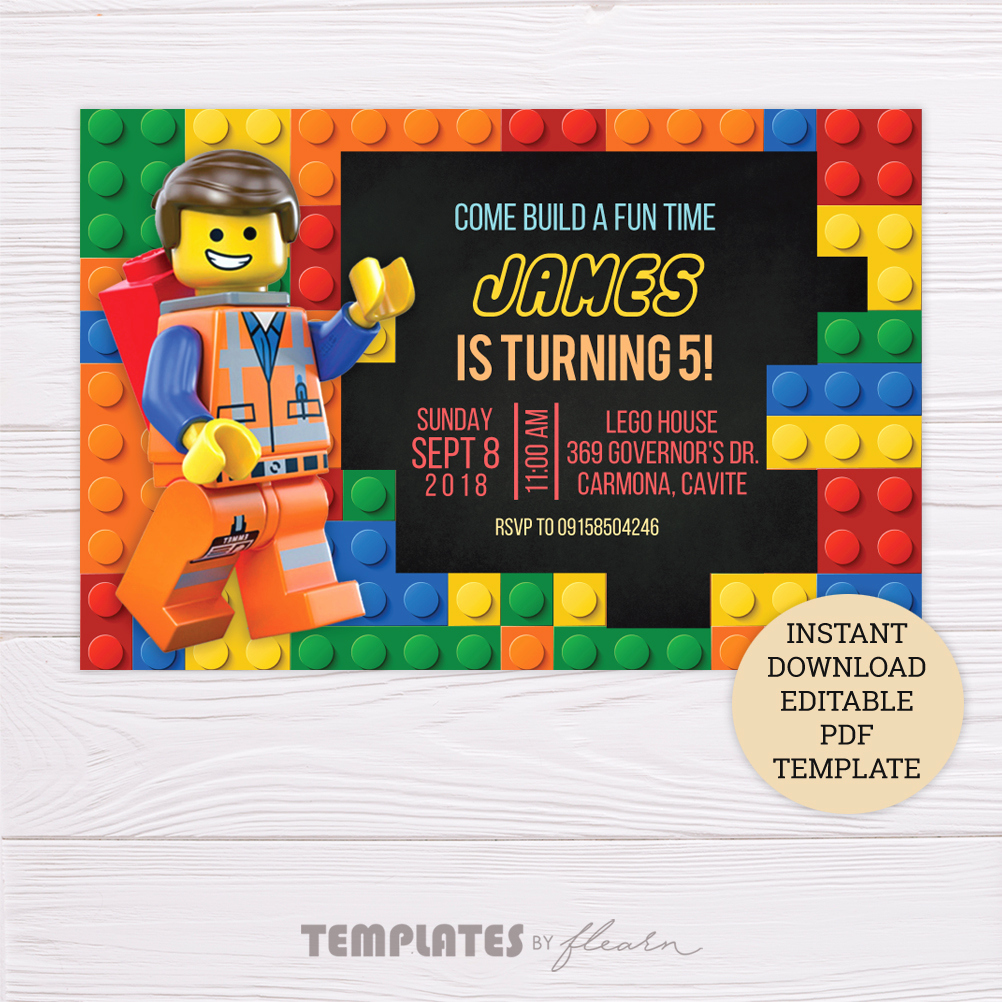 Lego Party Invitation Template Best Of Free Lego Invitation Template – Flearn Ph