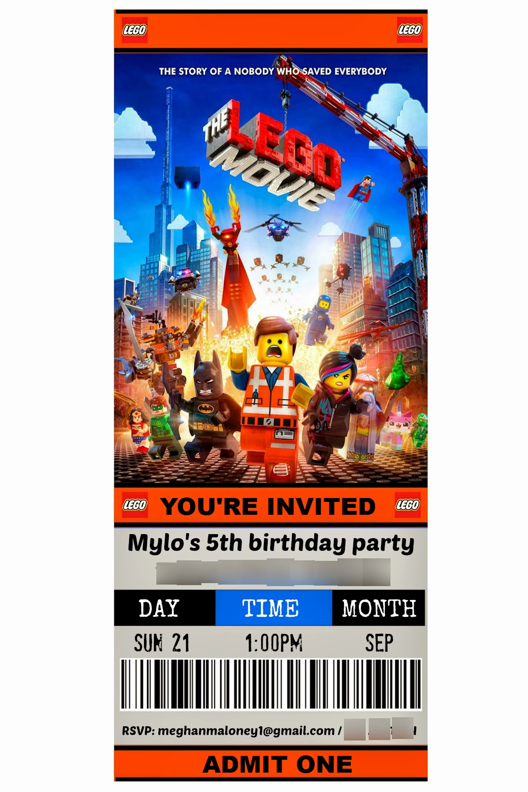 Lego Party Invitation Template Elegant How to the Ultimate Lego Movie theme Party Ideas and