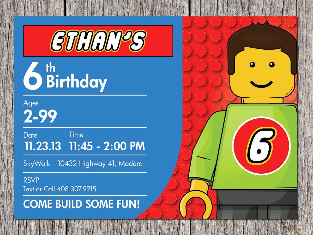 Lego Party Invitation Template Fresh Free Printable Lego Birthday Party Ideas