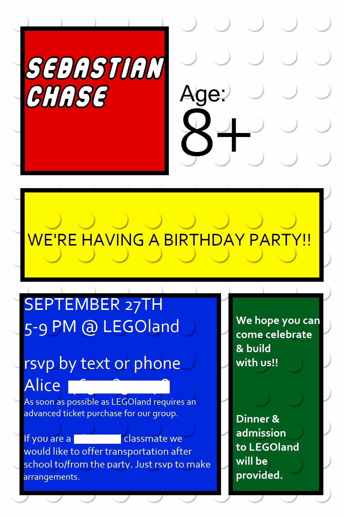 Lego Party Invitation Template Inspirational Lego Birthday Week Lego Invitations